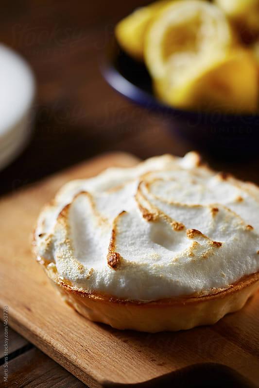 Homemade lemon pie  by Martí Sans for Stocksy United