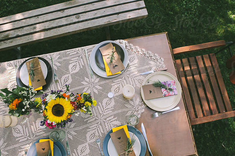 Garden Dinner Party by Ani Dimi for Stocksy United