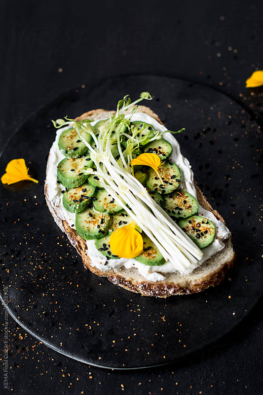 Cocktail avocado toast  by KEMA Food Culture for Stocksy United
