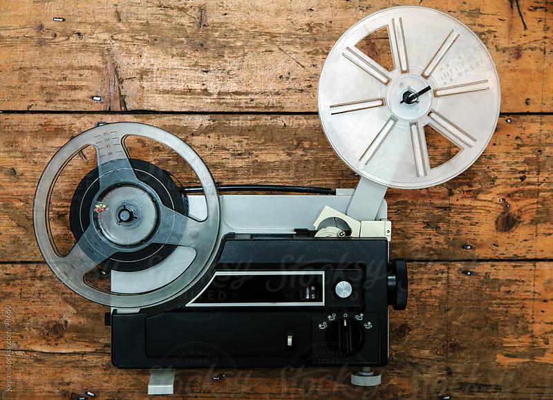 Vintage super 8 cine projector by kkgas for Stocksy United