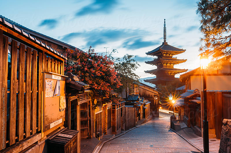 Yasaka Pagoda in Kyoto, Japan by Chinnaphong Mungsiri for Stocksy United