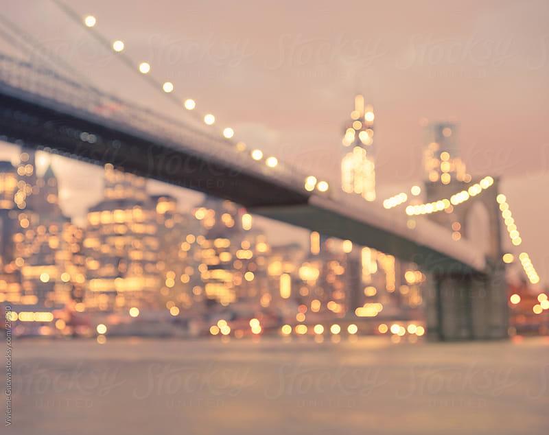 Brooklyn Bridge - Night - New York City by Vivienne Gucwa for Stocksy United