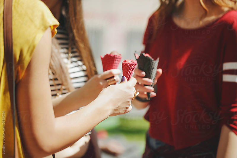 Girls Eating Icecream by Lumina for Stocksy United