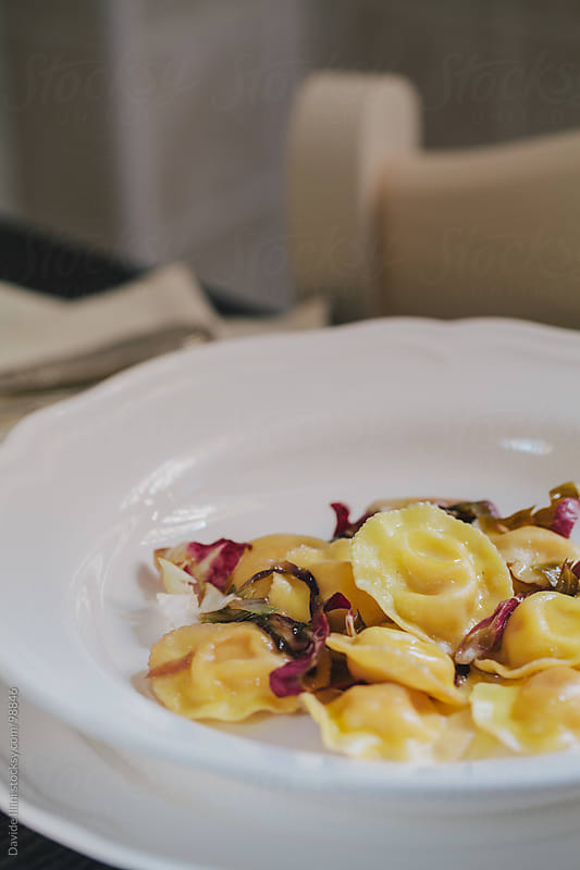 Ravioli with chicory by Davide Illini for Stocksy United