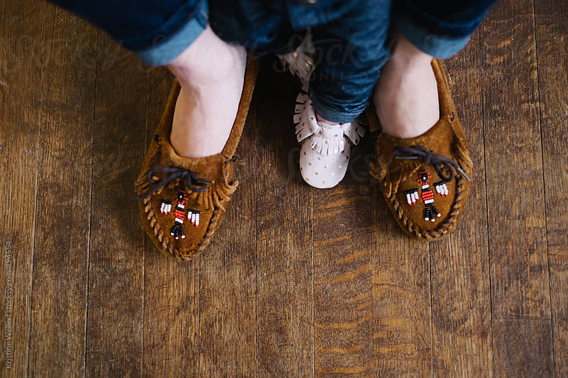 Mother and Daughters Feet by Kristine Weilert for Stocksy United