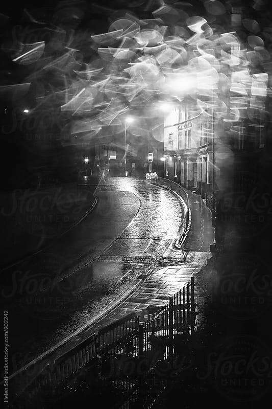 Rainy Edinburgh Street at Night by Helen Sotiriadis for Stocksy United
