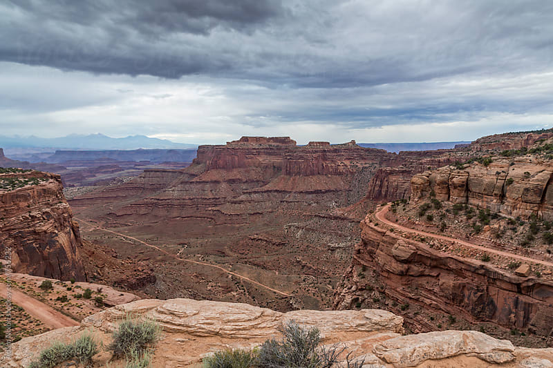 Shafer Trail, Canyonlands National Park Utah by Adam Nixon for Stocksy United