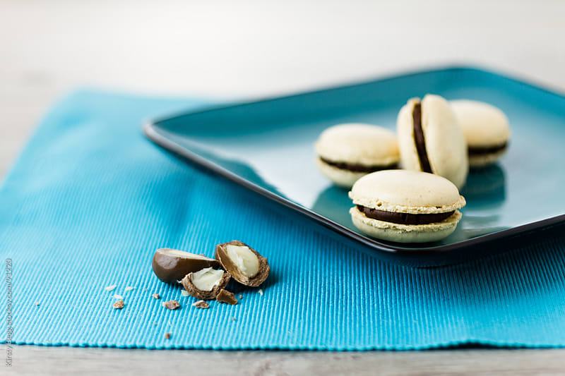 Brazil Nut Macarons horizontal by Kirsty Begg for Stocksy United
