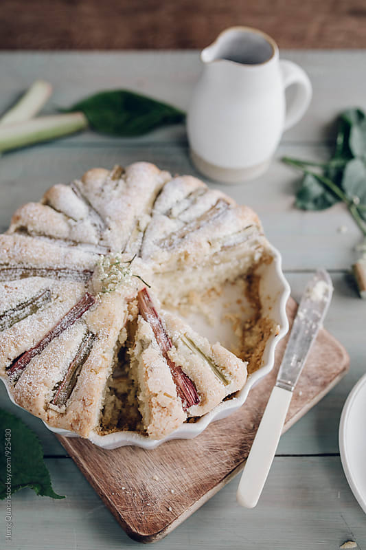 Rhubarb Cake by Hung Quach for Stocksy United