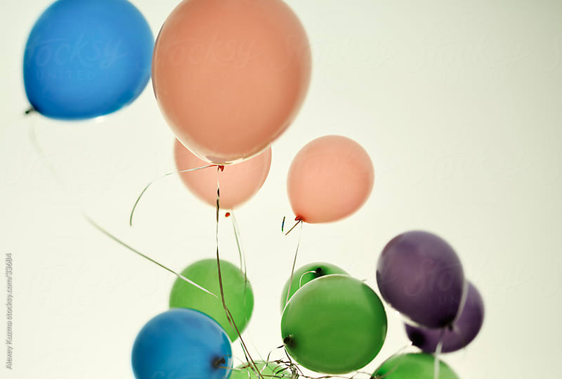 colored balloons by Vesna for Stocksy United