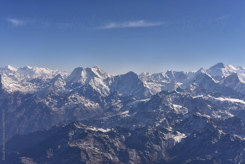 Panorama of Himalayas by Bisual Studio for Stocksy United