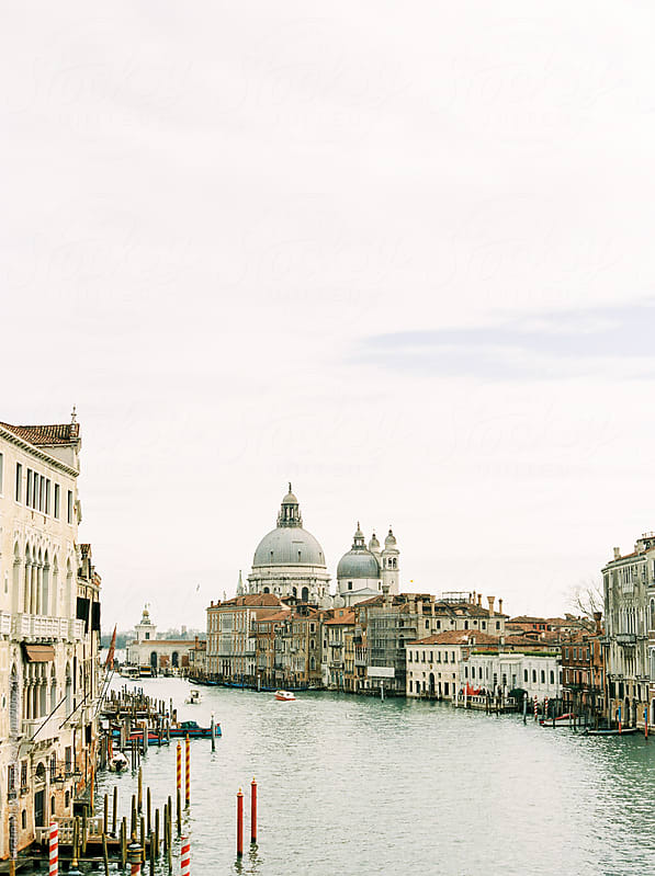 View from the Accademia Bridge, Venice by Kirstin Mckee for Stocksy United