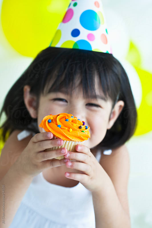 Birthday Cupcake by Jill Chen for Stocksy United