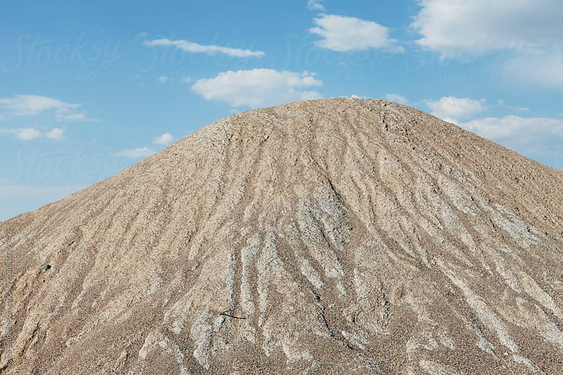Eroded gravel pile, near Wendover, UT by Paul Edmondson for Stocksy United