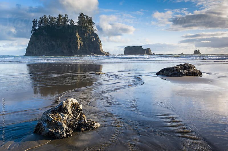 Second Beach on the Washington coast by Mark Windom for Stocksy United