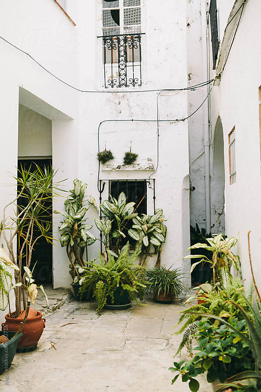 Andalucian patio in Tarifa by kkgas for Stocksy United