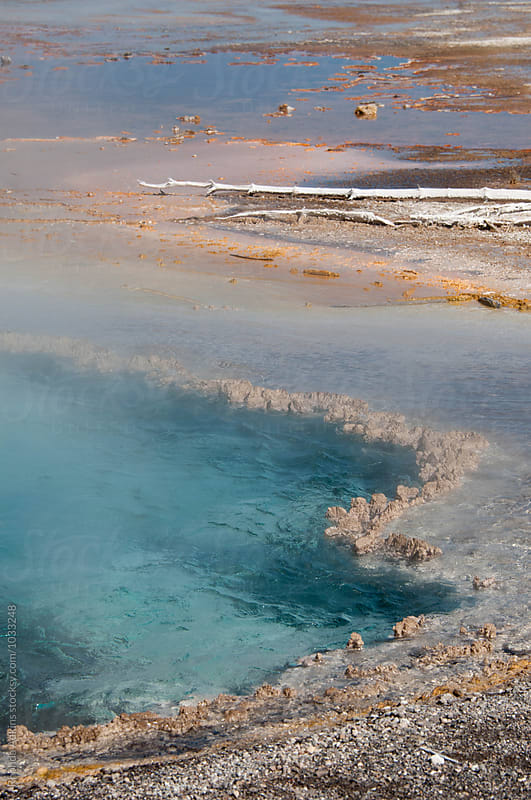 Beautiful steaming hot spring by Rhonda Adkins for Stocksy United