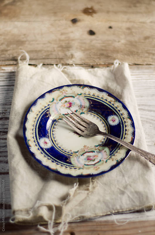 plate and fork by Crissy Mitchell for Stocksy United