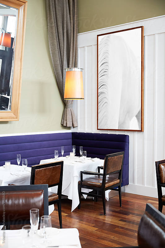 Empty Dining Room at an Upscale Restaurant by Trinette Reed for Stocksy United