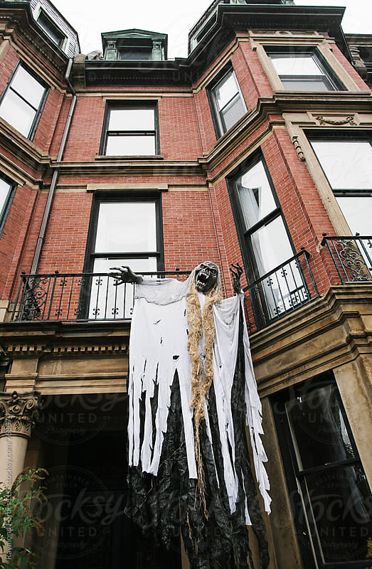 Zombie on a Brownstone by Raymond Forbes LLC for Stocksy United
