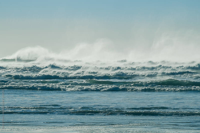 Mist waves from a stormy sea by Shelly Perry for Stocksy United