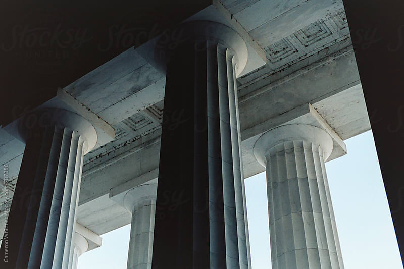 Lincoln Memorial Columns  by Cameron Whitman for Stocksy United