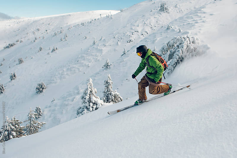 Telemark skier by Jordi Rulló for Stocksy United