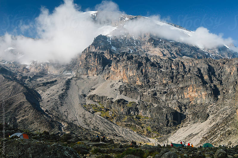 Mount Kilimanjaro summit and camp by Matthew Spaulding for Stocksy United
