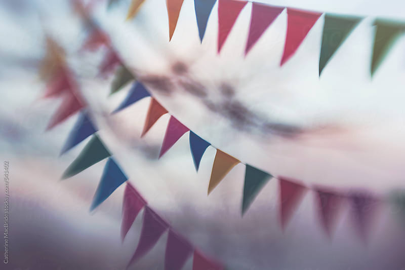 Fluttering Paper Bunting... by Catherine MacBride for Stocksy United