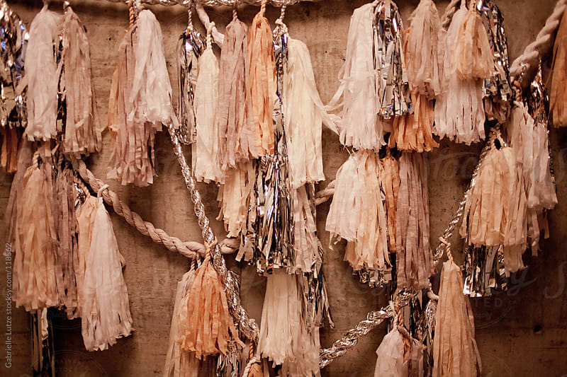 Paper and Tinsel Tassel Decoration by Gabrielle Lutze for Stocksy United