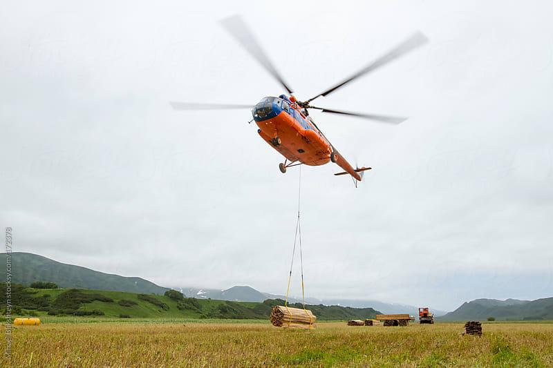 Russian-built MI-8 helicopter, a flying workhorse of the Russian Far East by Mihael Blikshteyn for Stocksy United