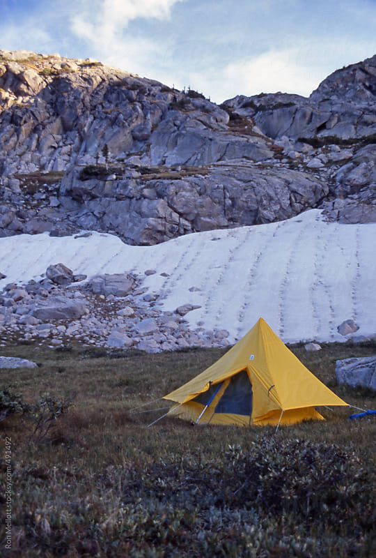 backpacker's tent near treeline alpine of northern Rocky Mountains in Colorado by Ron Mellott for Stocksy United