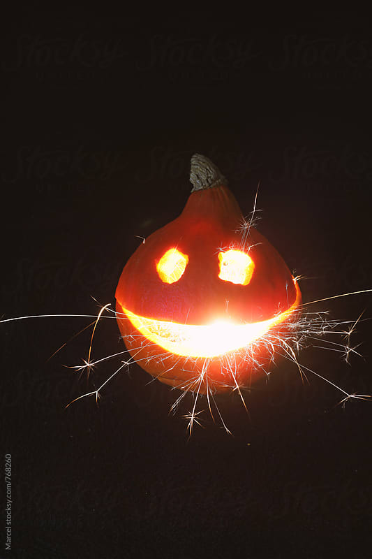 Sparkling smiling pumpkin by Marcel for Stocksy United