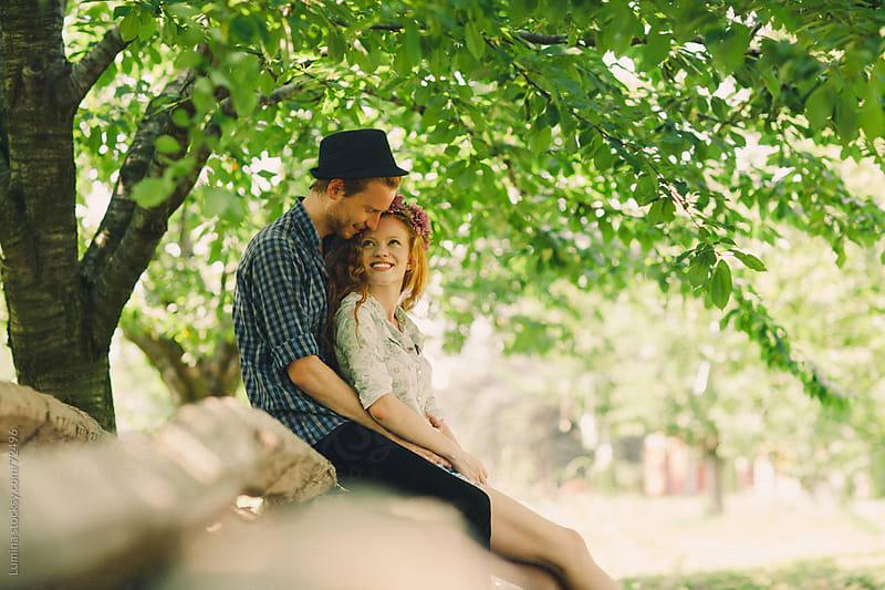 Romantic Couple Enjoying Outdoors by Lumina for Stocksy United