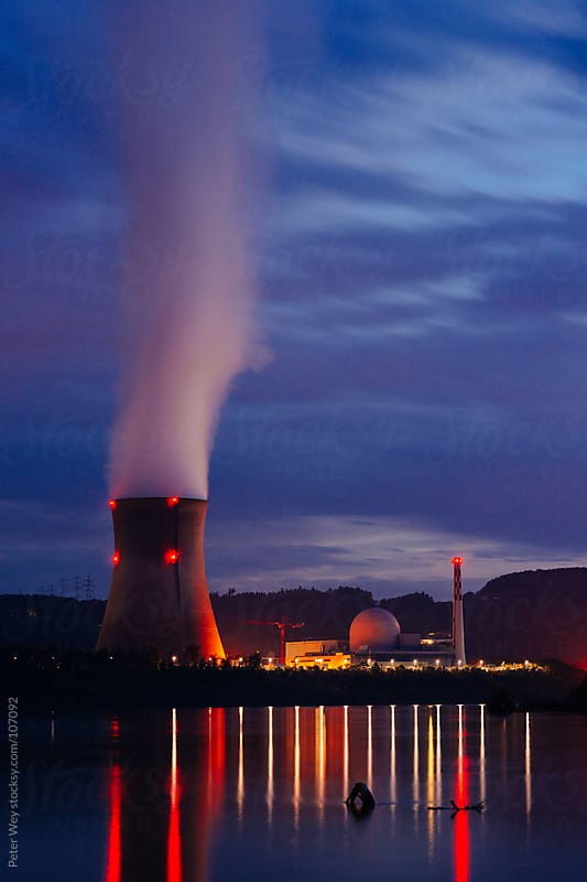 Leibstadt Nuclear Power Plant by Peter Wey for Stocksy United