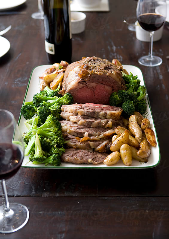 Roast Beef Dinner II by Jill Chen for Stocksy United