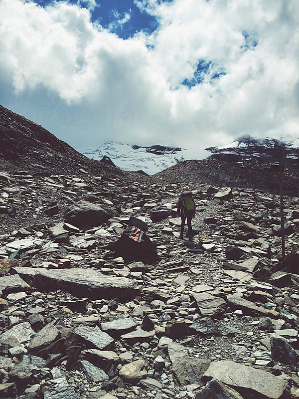 Hiking in the Swiss Alps by Neil Warburton for Stocksy United