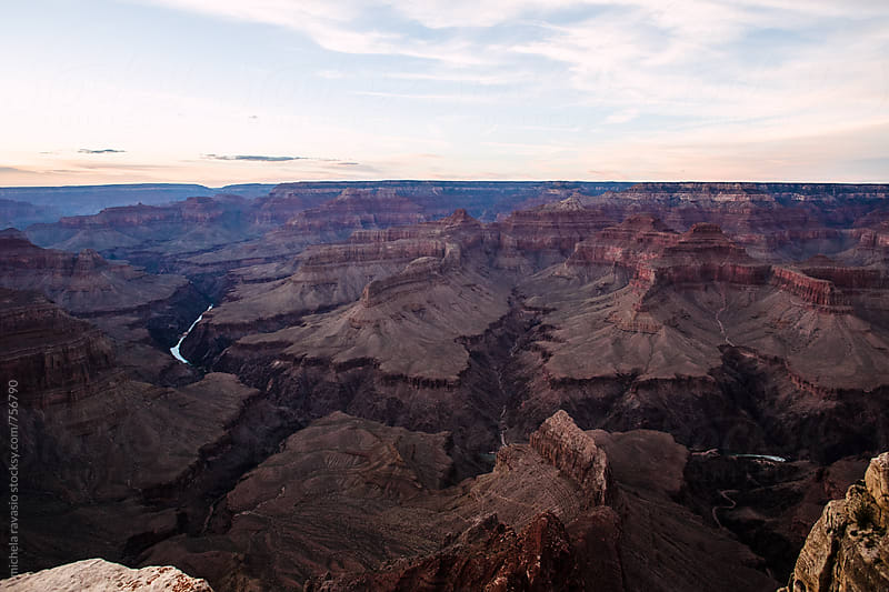 Grand Canyon National Park at twilight by michela ravasio for Stocksy United