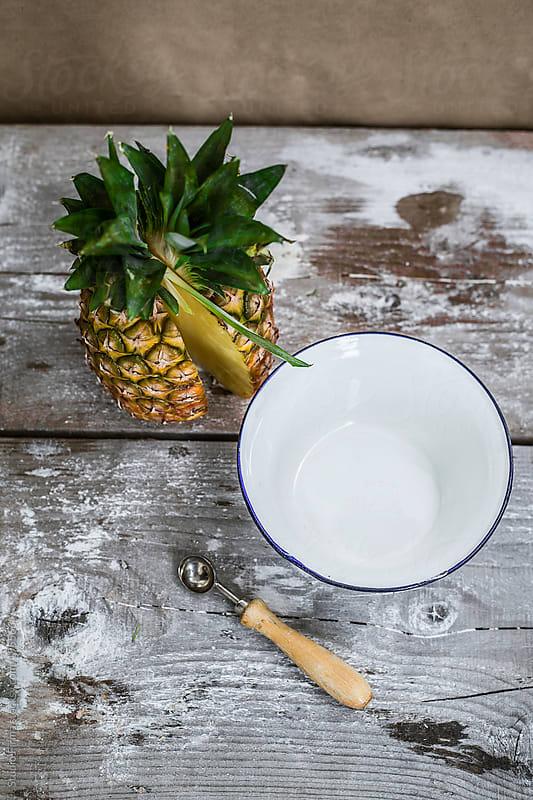 Fresh sliced organic pineapple by Studio Firma for Stocksy United