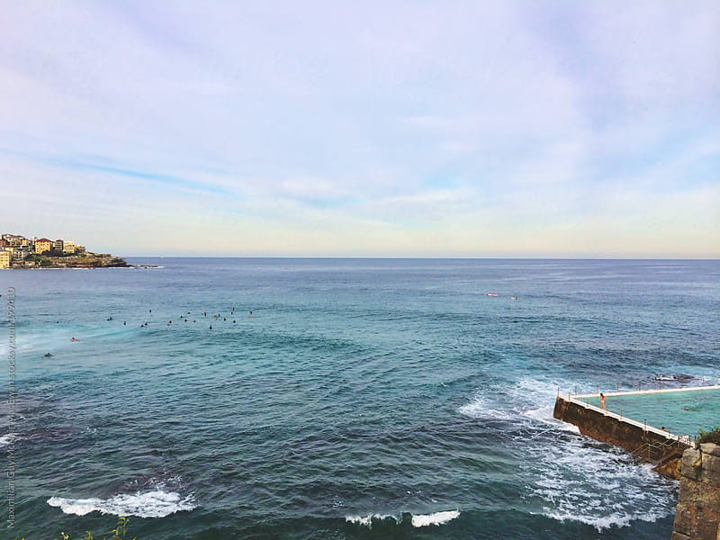 The beautiful Bondi beach by Maximilian Guy McNair MacEwan for Stocksy United