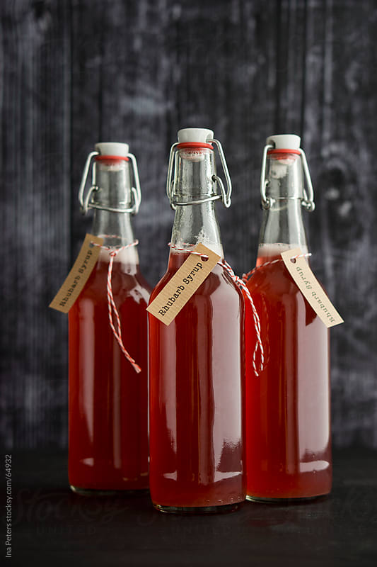 Food: Homemeade Rhubarb Syrup by Ina Peters for Stocksy United