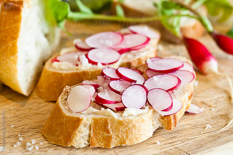 Radish and Butter Sandwiches by Jill Chen for Stocksy United