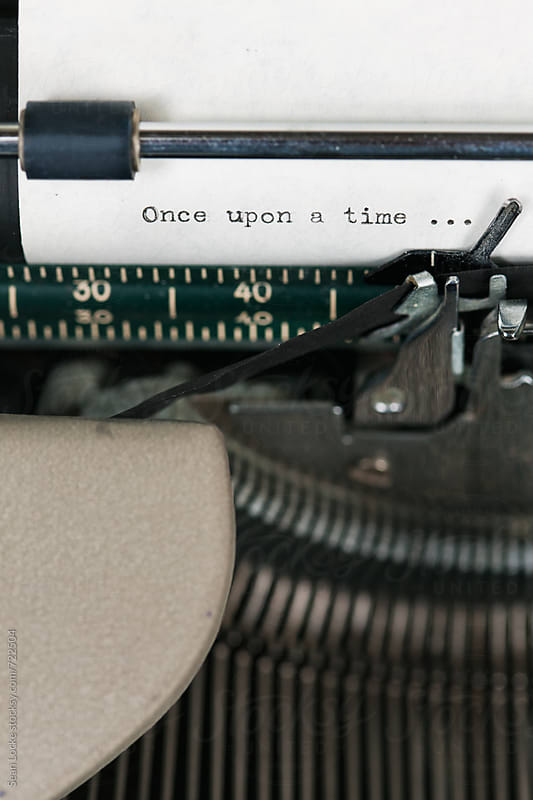 Typewriter: Once Upon A Time Typed Onto Paper by Sean Locke for Stocksy United