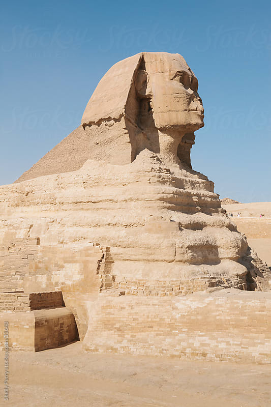 The Sphinx on the Giza Plateau, just Outside of Chiro, Egypt  by Shelly Perry for Stocksy United