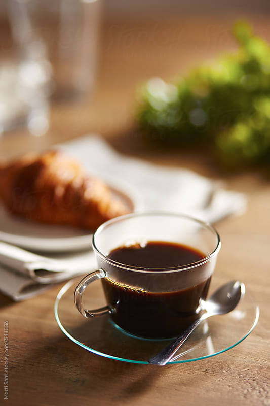 Coffee in a glass cup by Martí Sans for Stocksy United