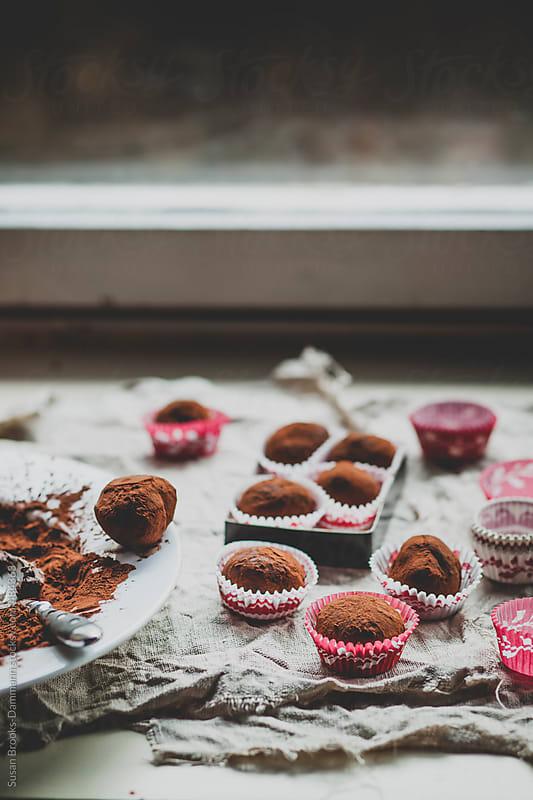 Vegan dark chocolate truffles by Susan Brooks-Dammann for Stocksy United