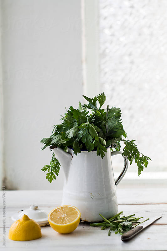 Fresh parsley by Babett Lupaneszku for Stocksy United