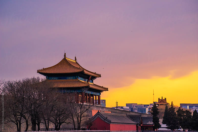 The Forbidden City ,Beijing,winter by Miss Rein for Stocksy United