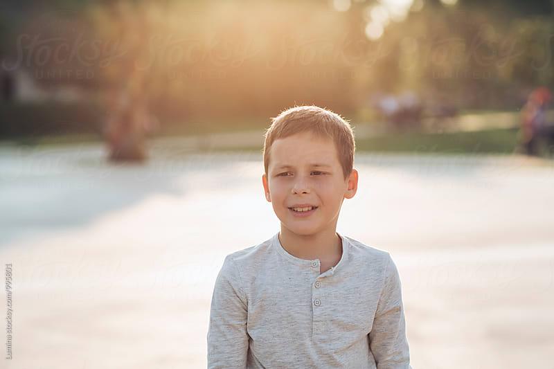 Portrait of a Cute Boy by Lumina for Stocksy United