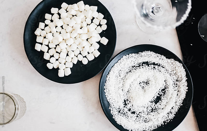 Marshmallow and coconut ingredients by Treasures & Travels for Stocksy United